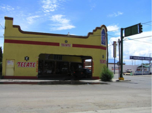 Drive through liquor stores such as this are common throughout Mexico.